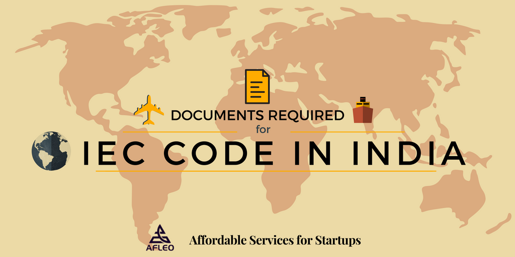 Documents required for IEC Code