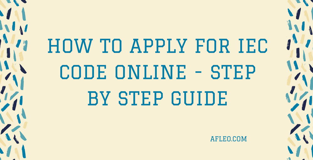 How to Apply for IEC Code