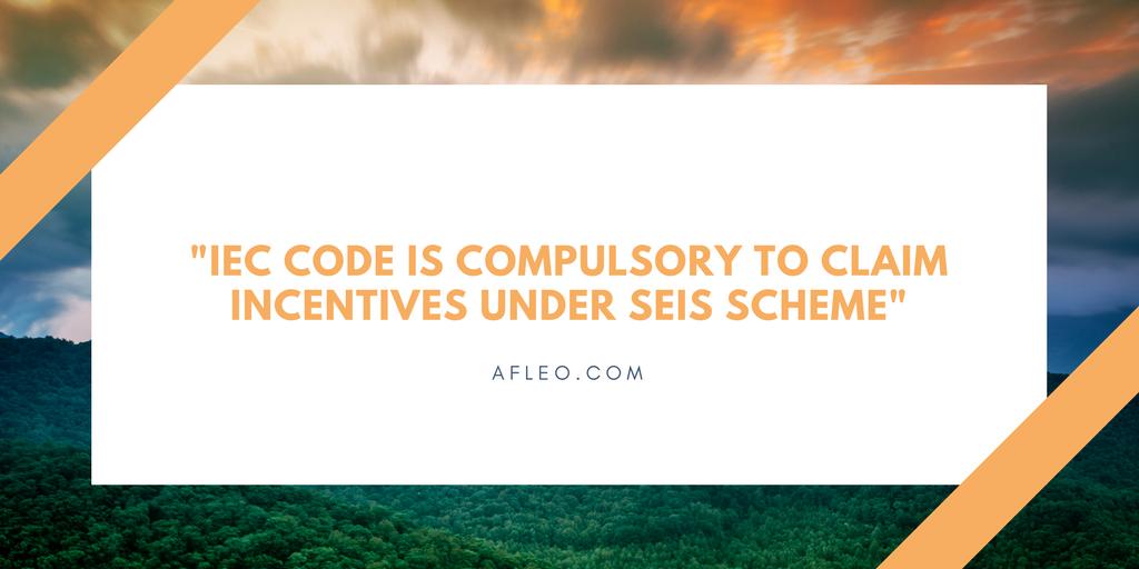 IEC Code for SEIS Scheme