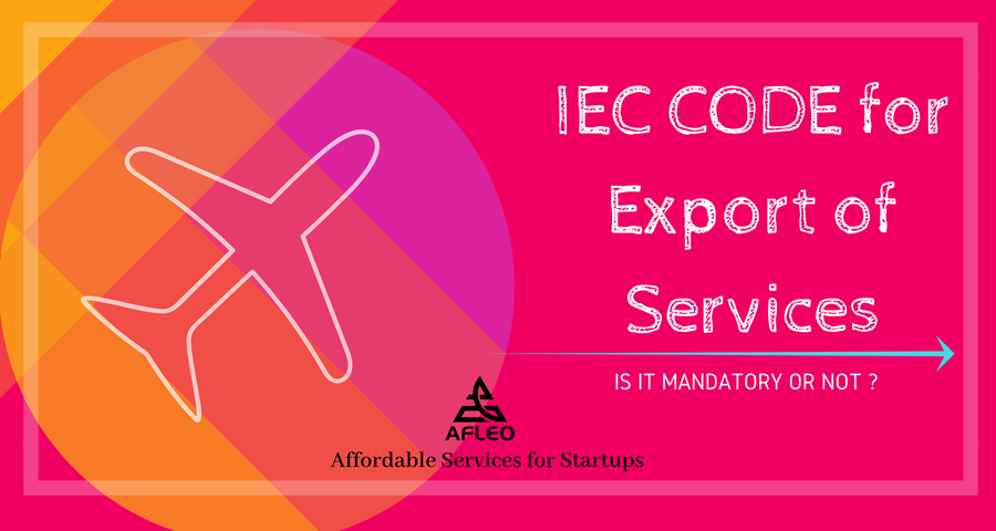 IEC Code for export of services