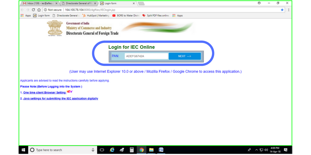 How to apply for iec code online step by step guide afleo now in the pan option please enter the pan card number of the proprietor or of entity in case of an entity firm reheart Choice Image