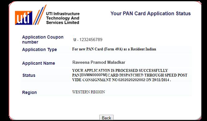 pan card UTI