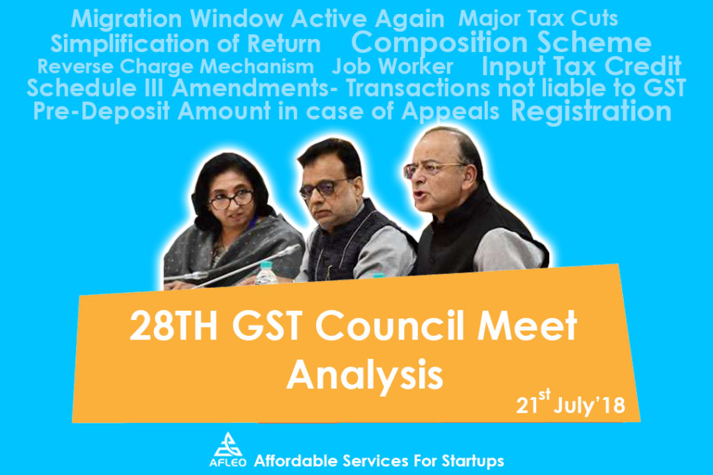 28th GST Council Meeting by Afleo