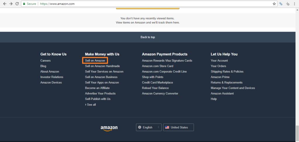 Seller registration Step1- Amazon seller