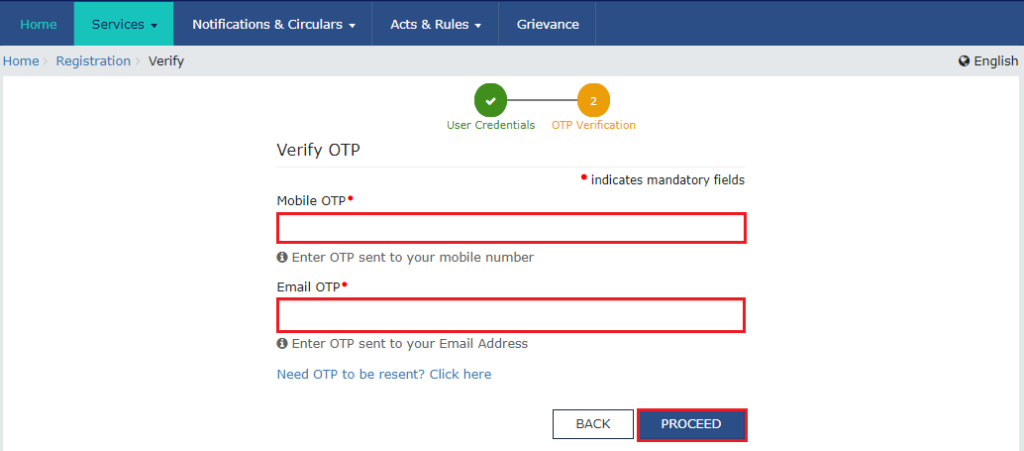 New GST Registration step 3
