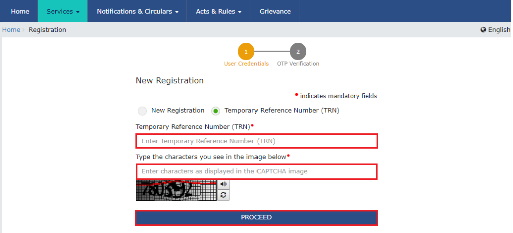 How To Apply For GST step 5