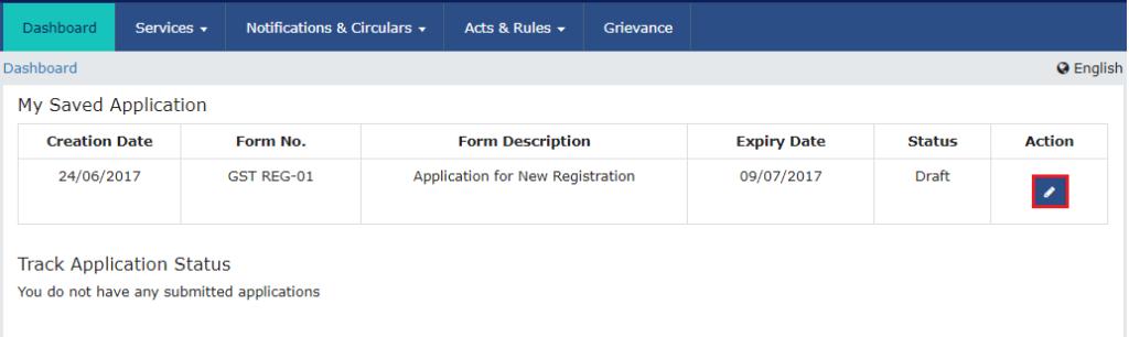 GST Application Step 7