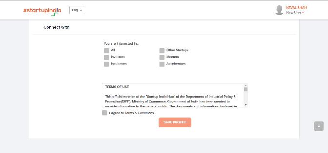 Startup India Registration Process Step-8