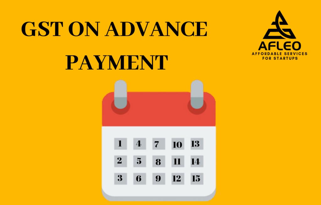 GST on advance payment